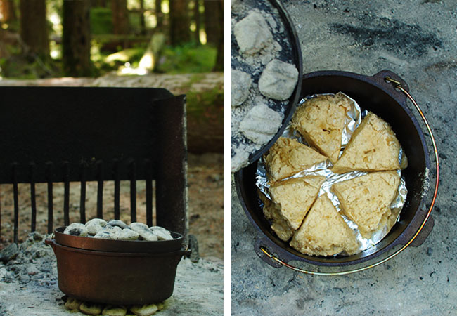 Ohanapecosh Dutch Oven Scones